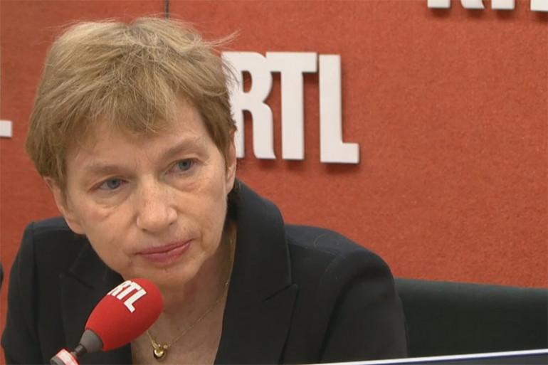 Laurence Parisot lors de son passage à RTL, le 21 octobre 2014
