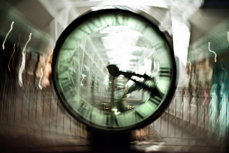 Photo prise le 25 Mars 2010 au centre commercial de la Toison d'Or à Dijon, d'une horloge. (archives)
