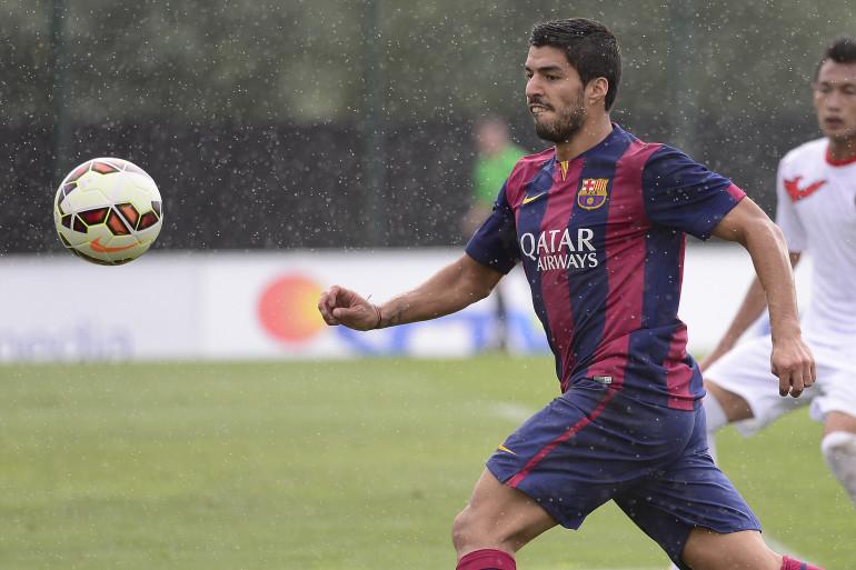 Luis Suarez lors d'un match avec la réserve du Barça, le 24 septembre 2014