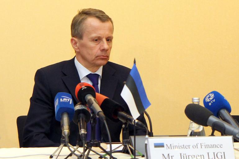 Le ministre estonien des Finances le 28 mars 2013 (archives)
