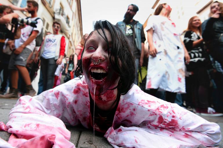 """La """"Zombie walk"""" a été interdite à Lille. (illustration)"""