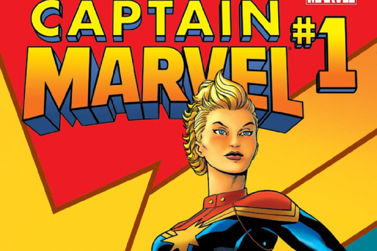 """La couverture de """"Captain Marvel"""" au cinéma en juillet 2018"""
