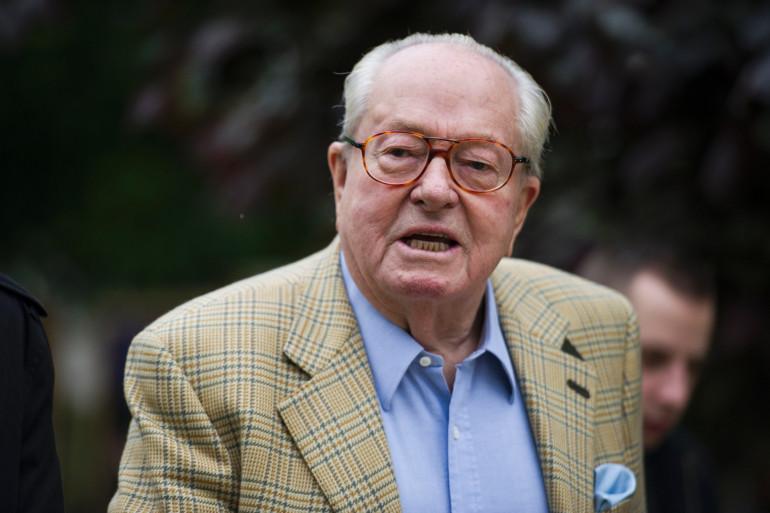 Jean-Marie Le Pen à Saint-Cloud, le 25 mai 2014 (archives)
