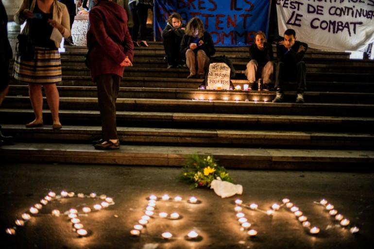 Hommage à Rémi Fraisse, à Lyon, le 29 octobre 2014. (archives)