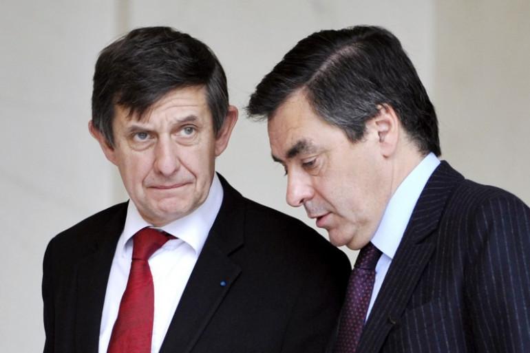 Jean-Pierre Jouyet et François Fillon, en 2008 (illustration)