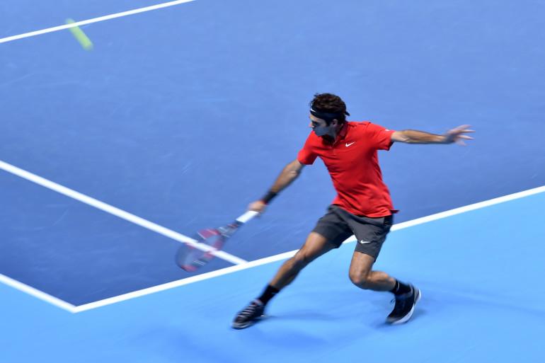 Le Suisse Roger Federer en novembre 2014 à Londres