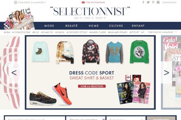 Avec Selectionnist, achetez les produits des magazines de mode