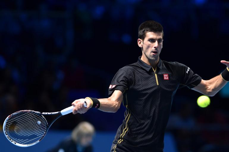 Novak Djokovic a battu Kei Nishikori en demi-finale du Masters de Londres, samedi 15 novembre 2014