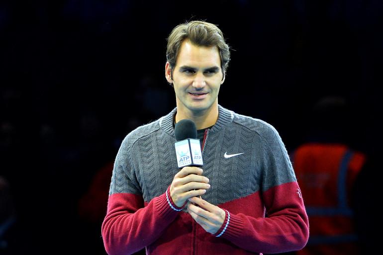 Le Suisse Roger Federer le 16 novembre 2014 à Londres