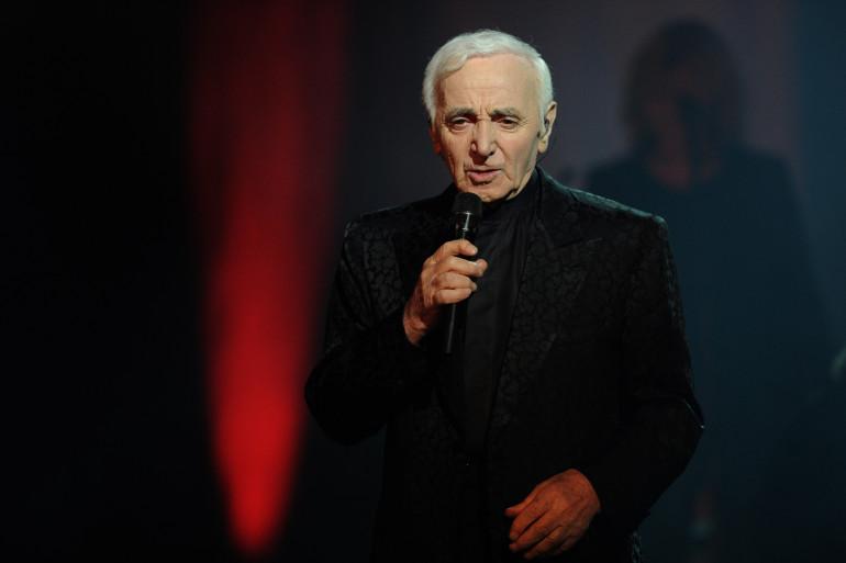 Charles Aznavour à l'opéra Yerevan (Arménie) le 12 mai 2014