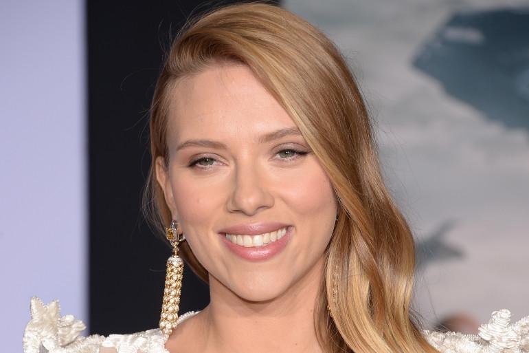 """Scarlett Johansson, le 13 mars 2014, lors de la première de """"Captain America"""""""