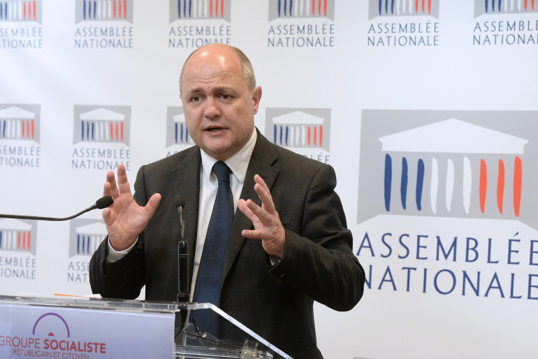 Bruno Le Roux, chef du groupe socialiste à l'Assemblée, le 23 avril 2014 (archives)
