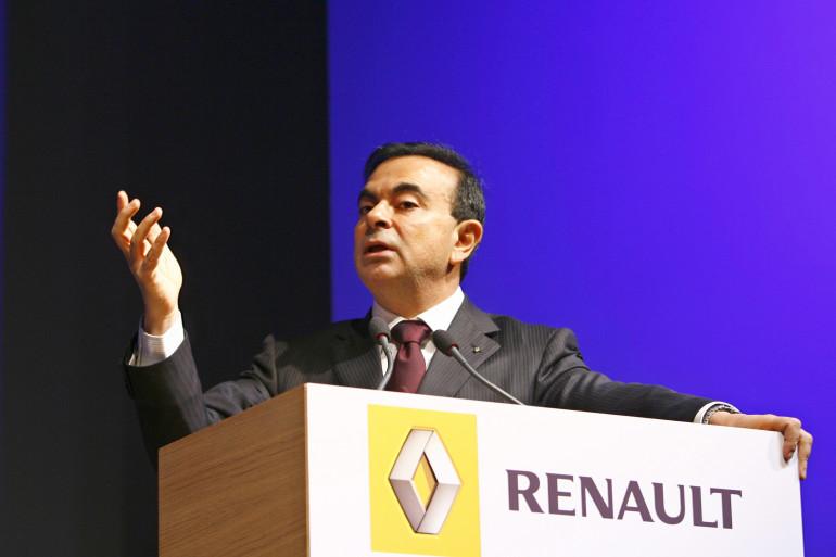 Carlos Ghosn, PDG de Renault, ici en 2006 lors d'une conférence de presse