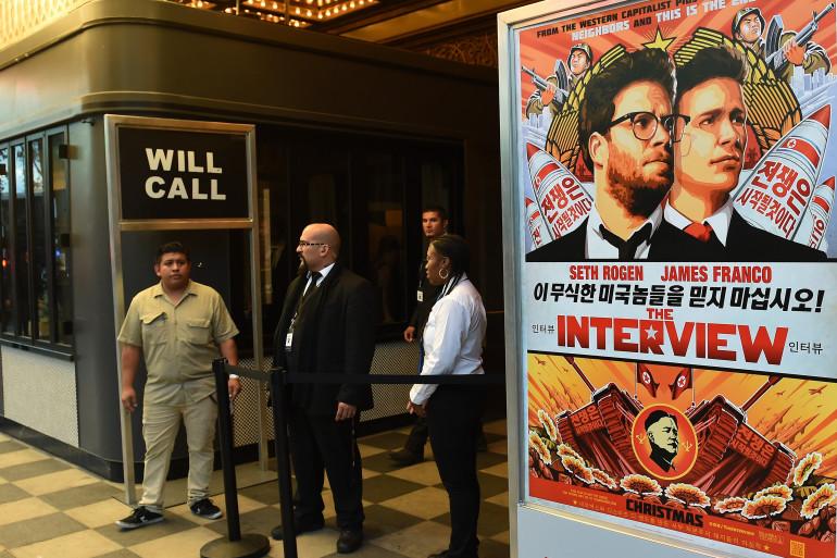 """Les pirates menacent tous ceux qui iront voir """"L'interview qui tue !"""", un film sur Kim Jong-Un, produit par Sony (archives)."""