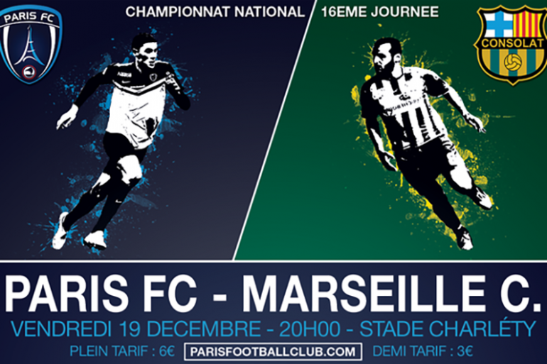 Le Paris FC reçoit Marseille Consolat, vendredi 19 décembre 2014