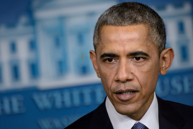Barack Obama lors d'une conférence de presse à la Maison Blanche, le 19 décembre 2014.