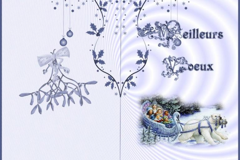 Une carte de vœux (illustration)