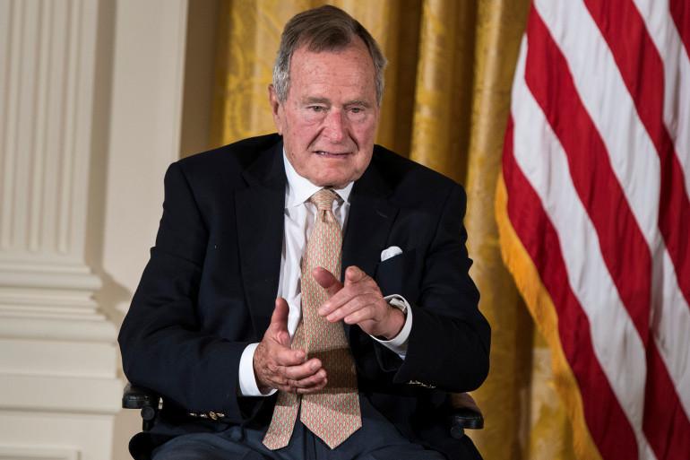 George Bush père à Washington, le 15 juillet 2013. (Illustration)