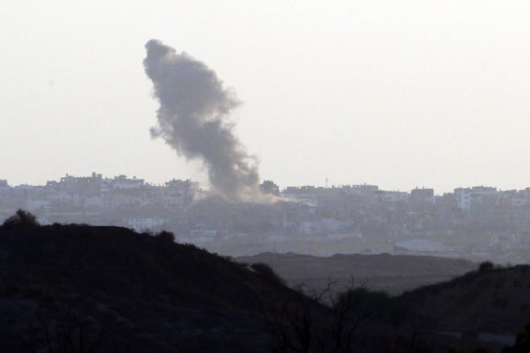 Une frappe militaire d'Israël sur Gaza, le 19 août 2014.