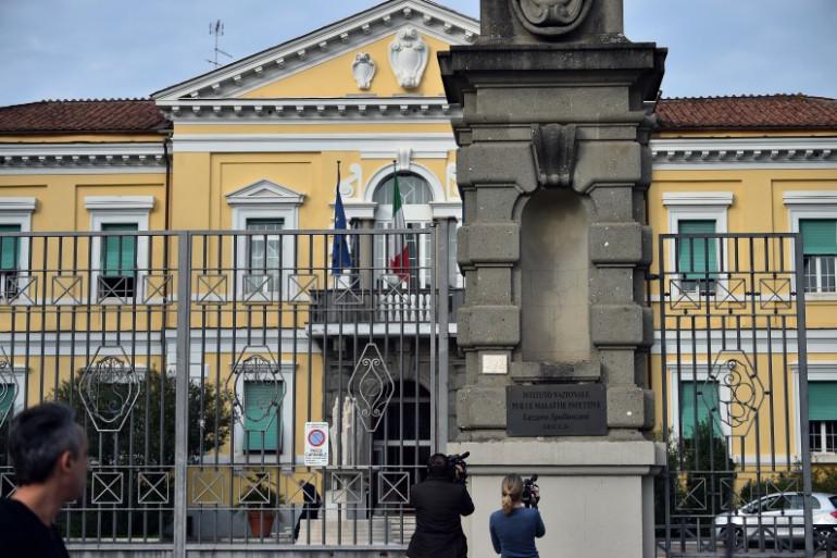 L'institut de Rome Spallanzani, spécialisé dans les maladies infectieuses.