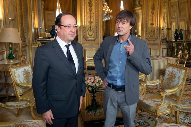 François Hollande et Nicolas Hulot à l'Élysée en décembre 2012 (Archives).