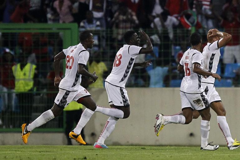 La sélection de Guinée-Équatoriale, le 16 novembre 2013,