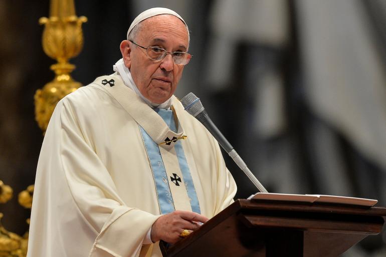 Le pape François le 1er janvier 2015 à la basilique Saint-Pierre, au Vatican (archives).