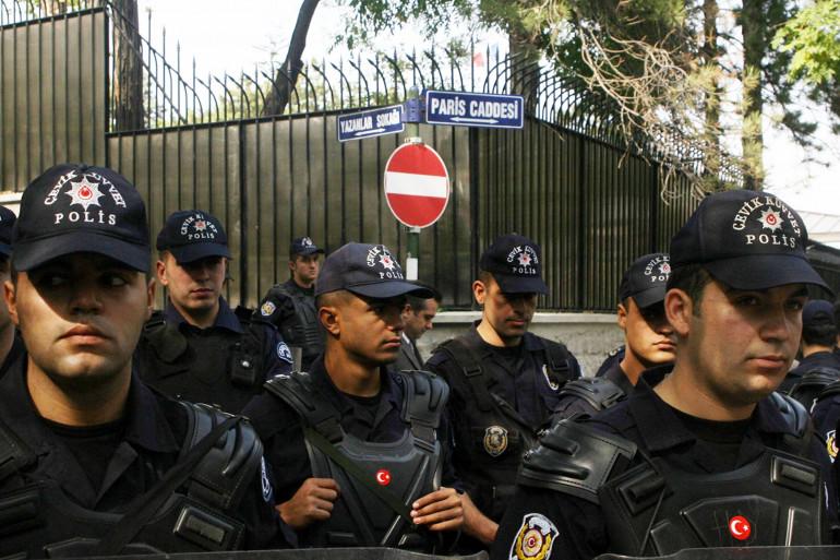 Des policiers turcs à Ankara. (Illustration)