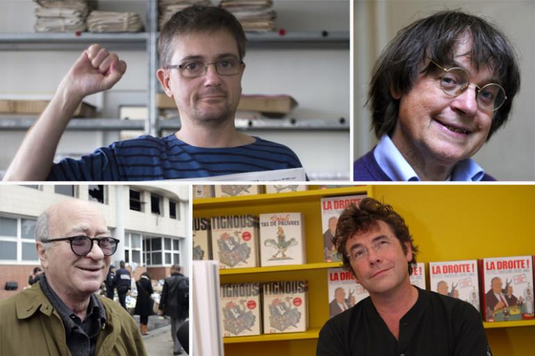 Charb, Cabu, Wolinski et Tignous ont été tués lors de l'attaque de Charlie Hebdo