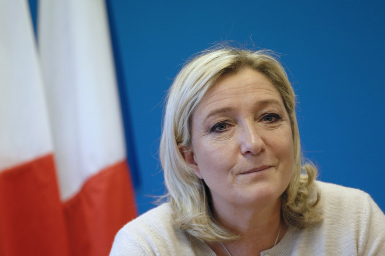 Marine Le Pen, présidente du Front national, le 8 décembre 2014 (archives)