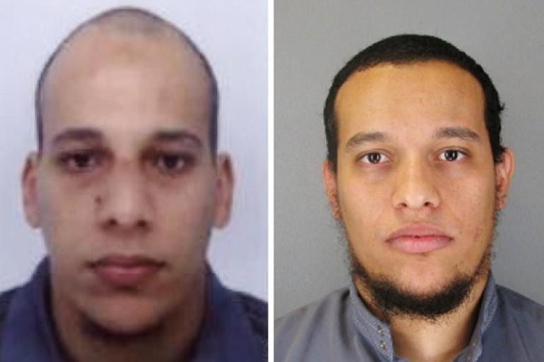 Les frères Kouachi, auteurs de l'attentat contre Charlie Hebdo, le 7 janvier 2015