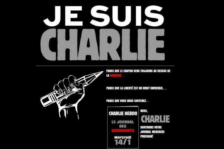 """La une du site de """"Charlie Hebdo"""" jeudi 8 janvier 2015"""