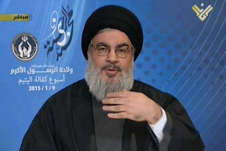 Hassan Nasrallah, le chef du Hezbollah chiite libanais, lors de son allocution télévisée, le 9 janvier 2014.