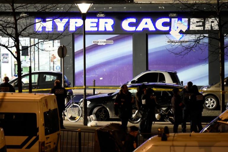 L'Hypercacher où s'est déroulée la prise d'otages, Porte de Vincennes à Paris.