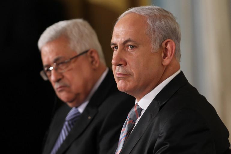 Mahmoud Abbas et Benjamin Netanyahu, en septembre 2010, aux États-Unis