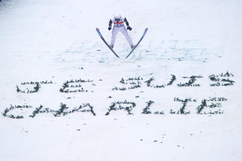 Jason Lamy-Chappuis lors de la Coupe du monde de combiné nordique le 10 janvier 2015