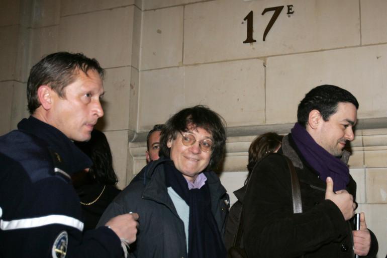 """Cabu lors du procès contre """"Charlie Hebdo"""" pour la publication des caricatures de Mahomet, le 7 février 2007, à Paris (archives)."""