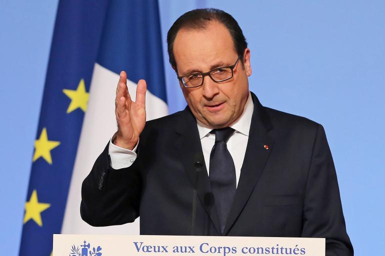 """Hollande se """"félicite"""" des décisions de la BCE """"dans le respect de son indépendance"""" (illustration)"""