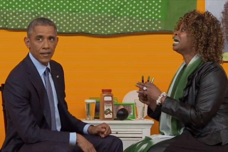 Des Youtubers déjantés interviewent Barack Obama (capture d'écran).