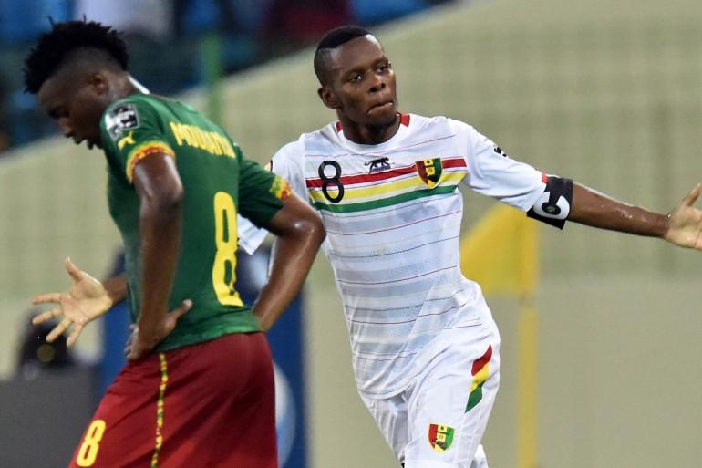 Le Guinéen Ibrahima Traoré à Malabo en Guinée équatoriale, le 24 janvier 2015.