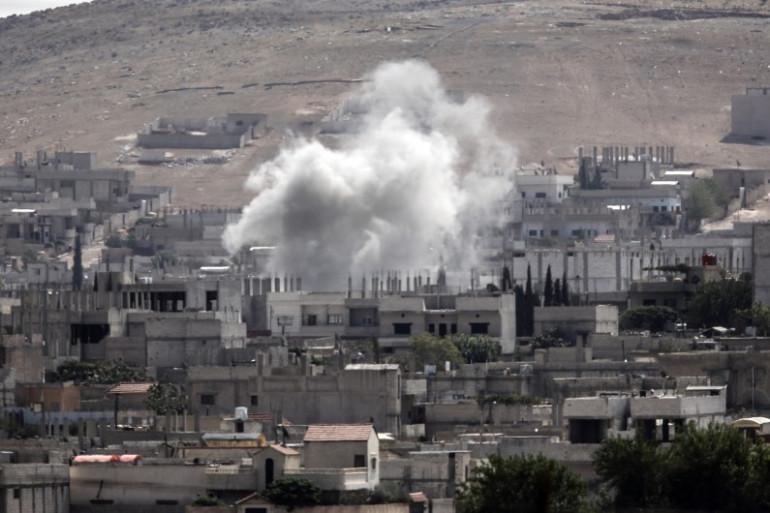 La ville de Kobané en Syrie, le 3 octobre 2014.