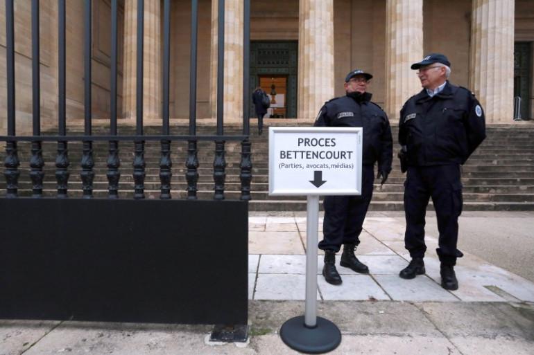 Le tribunal correctionnel de Bordeaux où se tient le procès Bettencourt, le 26 janvier 2015.