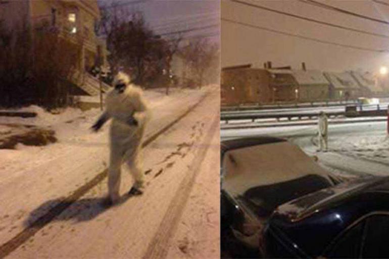 Le blizzard fait sortir le yéti de sa tanière