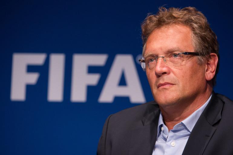 Le secrétaire général de la Fifa, Jérôme Valcke, lors d'une conférence de presse, le 26 septembre 2014 à Zurich (archives).