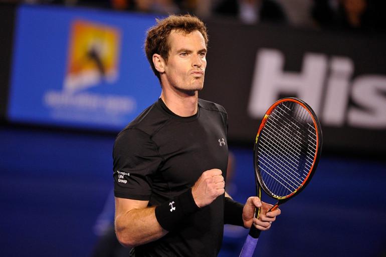 Andy Murray à Melbourne en janvier 2015