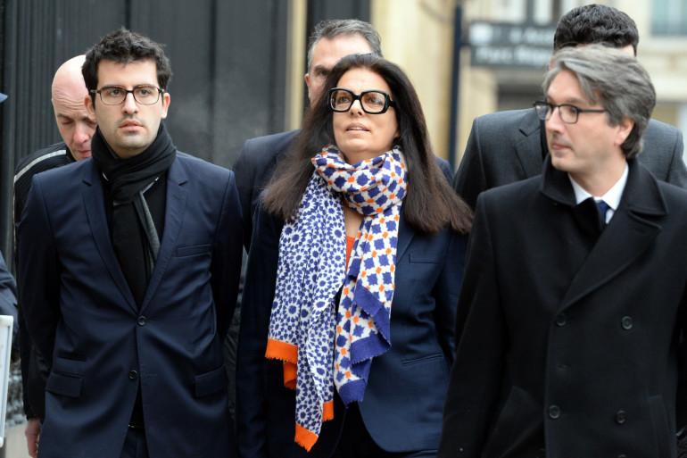 Françoise Bettencourt-Meyers arrive au tribunal de Bordeaux, le 26 janvier 2015