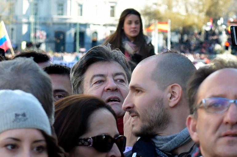 """À Madrid, Jean-Luc Mélenchon a expliqué qu'il s'opposerait désormais à """"la caste"""""""