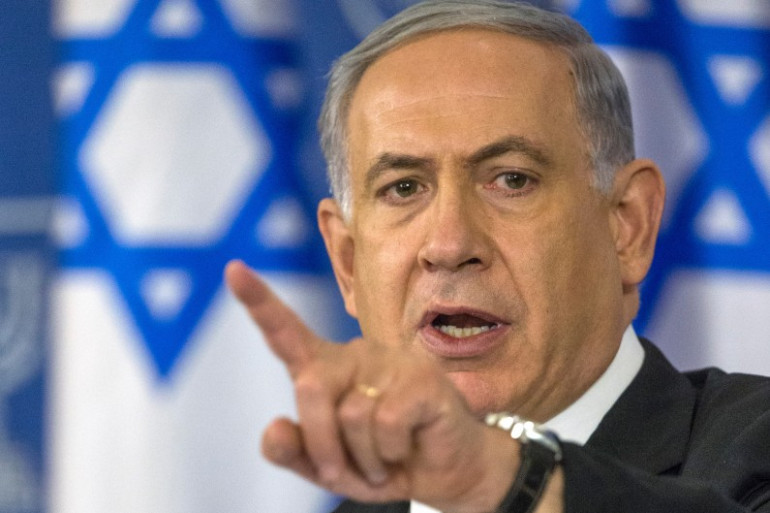 Le Premier ministre israélien Benjamin Netanyahu lors d'un discours à Tel Aviv le 20 août 2014