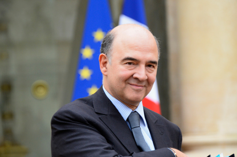 L'ancien ministre de l'Économie Pierre Moscovici devant l'Élysée (archives).