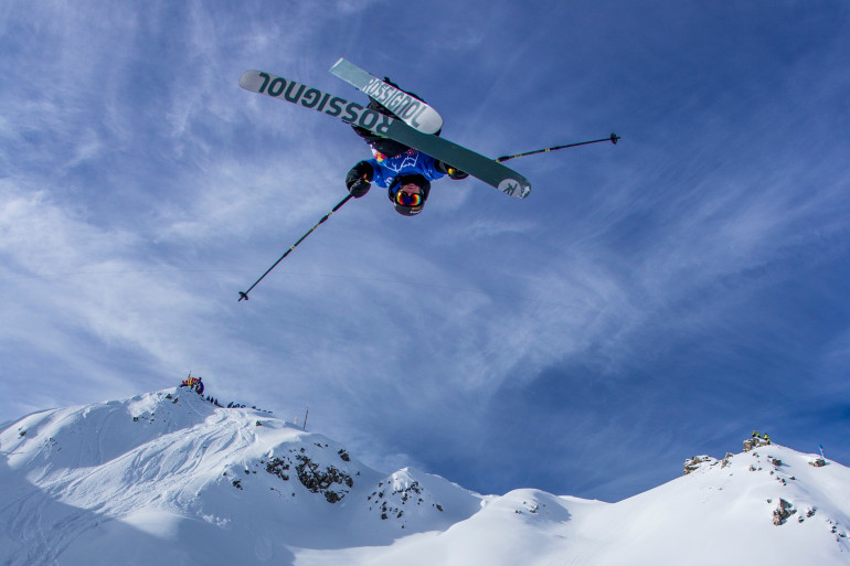 Sam Favret, skieur français au Red Bull Linecatcher 2015